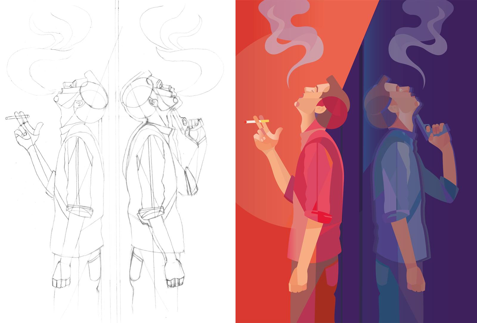 MariaCentola_Illustration_SmokingGun_2